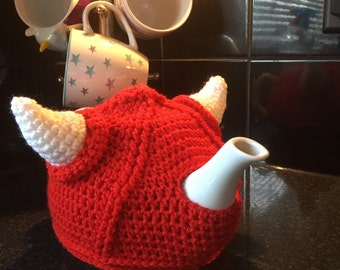 Red Unique Viking Theme Tea Cozy