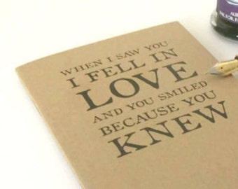 Shakespeare Love Quote Notebook - Romeo & Juliet Journal, Lined Pages | Romantic A6 Kraft Memory Book | Literary Gift for Lover or Writer