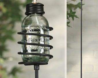 Mason Jar Citronella Candle Garden Stake Set of 6 Small