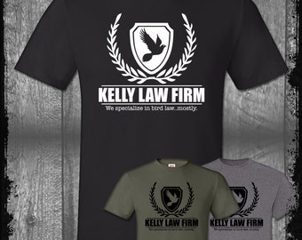 Bird Law Office T-shirt, Always Sunny Philadelphia Lawyering Charlie Kelly Frank Reynolds Funny Paddy's Pub Day Man Comedy Shirt Pop Culture