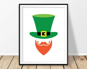 Invaluable image within leprechaun hat printable