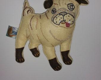 Customised Big Pug Art Doll
