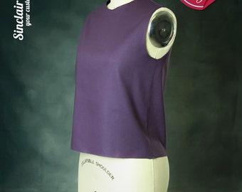 Custom sized dartless bodice sloper for non elastic fabric (your custom size)