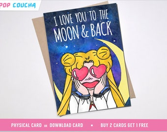 SAILOR MOON LOVE Greeting Card || Pun Couple Cute Mars Jupiter Venus Tuxedo Go Boyfriend Gay Girlfriend Anniversary Boyfriend Valentine