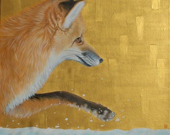 Winter Fox, Original Painting