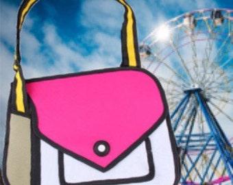 Cartoon, 3D , Simple Pink bag