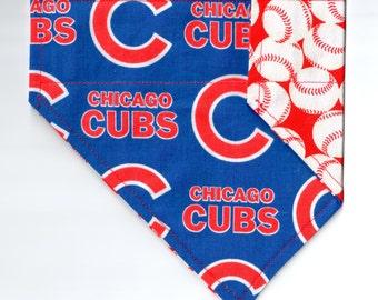 Chicago Cubs Classic Bandana | Dog Bandana | Over the Collar Dog Bandanas | Custom Dog Bandana