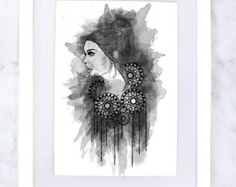 Watercolour Woman Art Print II