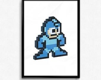Megaman - Pixel Poster