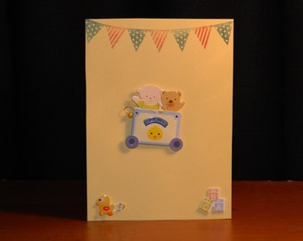Yellow Baby greeting card