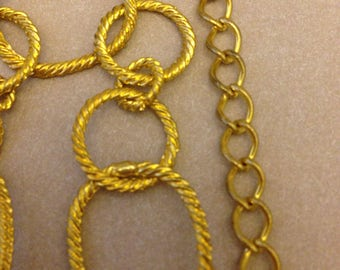 Vintage Asymmetrical Gold Chain