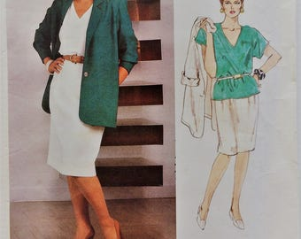 Very Easy Very Vogue sewing pattern 2059 - Misses' loose fitting jacket, top and skirt