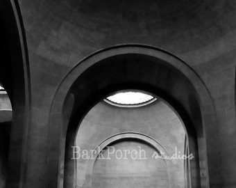 Winged Victory of Samothrace statue; Louvre Museum; Paris, France; Black and white photography; Travel photography; Wall art; Poster