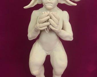 OOAK Satyr/Pan Figurine