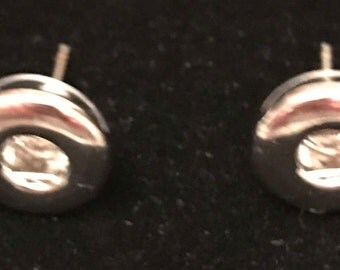 Small Snap Button Stud Earring Set
