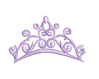 Tiara Embroidery Design - 3 sizes instant download
