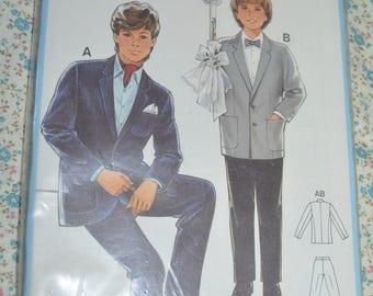 Burda 6918 Boys  Suit Sewing Pattern - UNCUT - Size 6 8 10 12 14 16 18 20