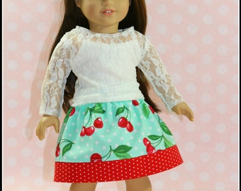 "Penelope Twirl Skirt - PDF Sewing Pattern for 18"" Dolls - Instant Download"