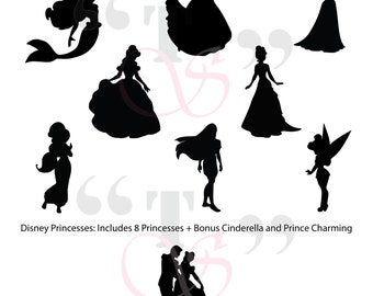 NEW! Disney Princess svg file for Cricut, Silhouette, and similar cutting machines