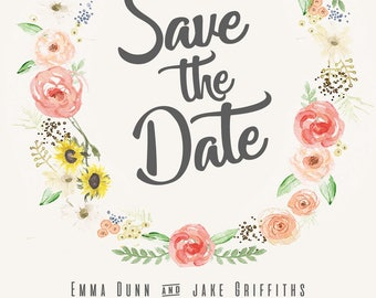 Floral Design - Save the date cards