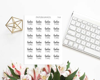 boba time stickers text lettering for bullet journals and planners - T058