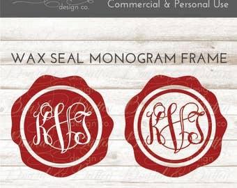 Monogram Frame svg Cut Files - Wax Seal Monogram Frame dxf files - SVG Monogram Frames - Wax Seal svg Instant Download Commercial Use svg