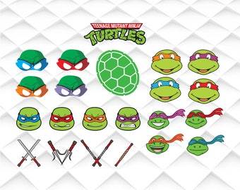 TMNT SVG,TMNT clipart, Teenage mutant ninja turtles svg svg,png,jpg,eps for Print/Silhouette Cameo/Cricut and Many More