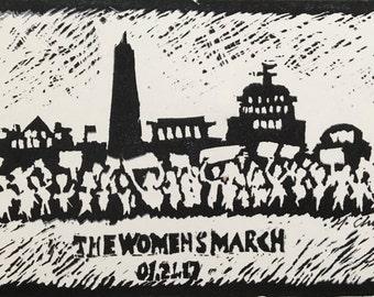 The Women's March PRINT (Postcard Size)