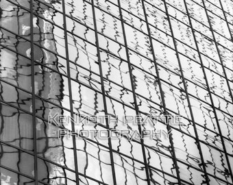Modern black and white architectural photography. Charlotte print #9.