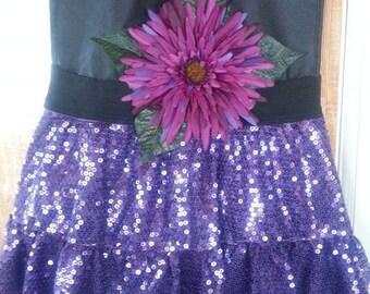 Purple sequin dance bag purse