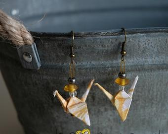 (Crane) - G014 origami earrings