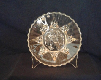 Vintage Federal Glass Pioneer Luncheon Plate