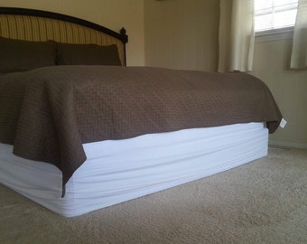 Dust Ruffle - Magic Wrap-around Tailored Bed Skirt-Boxspring Cover