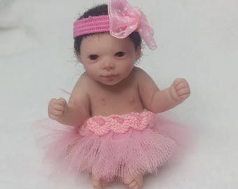 Miniature, Ooak, clay, baby, decoration, gift,