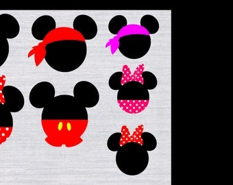 Mickey Mouse SVG bundle, Minnie Mouse SVG, Mickey head svg,  Disney svg files, Mickey Mouse svg, svg files for silhouette, files for cricut