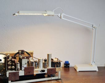 XXL desk lamp from the 70s and 80s. Vintage lamp. Drafting table lamp. Scandinavian design. Made in Finland.