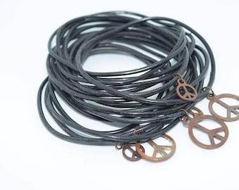 Vintage Rubber & Peace Symbol Bracelets