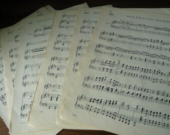 Vintage Sheet Music for Decoupage or Scrap-booking (10 sheets)