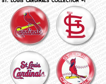 Set of 4 Mini Pins / Buttons - ST. LOUIS CARDINALS missouri mo baseball mlb (choose your style!)