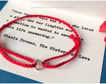Heart Charm Bracelet. Sterling Silver Charm. Friendship Bracelet.