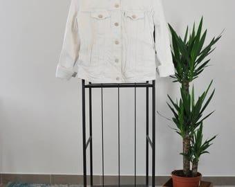Levi's Jean's Jacket / Levi's Vintage / 80's / White Tab / Size M / Women Clothe / Jeans / White Jeans Jacket
