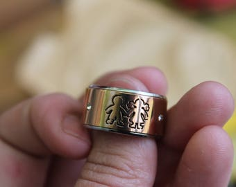 Stainless Steel Boy and Girl Ring, Mom Ring, Hypoallergenic Ring,  Doen't tarnish.