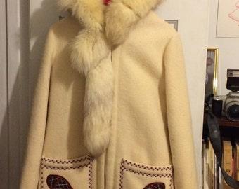 100% Canadian wool vintage coat