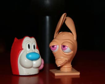 Ren and Stimpy Candy Heads (empty) Vintage 1990s Topps