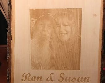 personalized laser engraved wood images