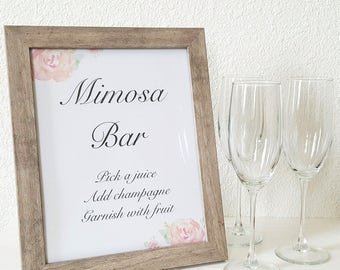 Mimosa Bar Sign, Wedding Sign, Bridal Shower Mimosa Sign, Mimosa Bar Printable, Printable Sign, Downloadable PDF, Brunch Mimosa Sign