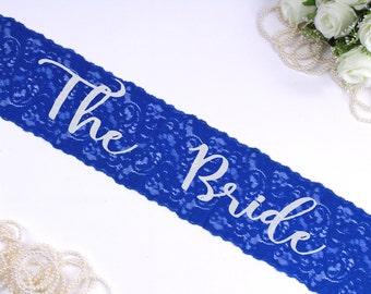 The Bride Sash. Bachelorette Sash. Bachelorette Party. Bride To Be Sash. Wedding Sash. Bridal Sash. Bride Lace Sash. Bachelorette Lace Sash