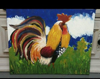 Rita the Rooster painting