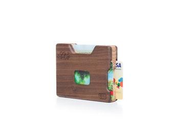 Wood Wallet-Wooden Card Holder-Wood Credit Card Holder- Gift Ideas-Gift-Handmade Wooden Wallet
