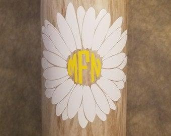Monogram Daisy Decal